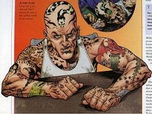Tattooed Man , Flame Of Darkness